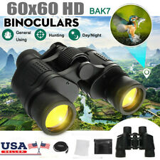60X60 Zoom Binoculars Day/Night Vision Travel Outdoor Hd Hunting Telescope Bag