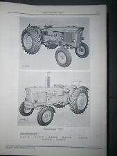 John Deere 2020 tracteur : ersatzteilliste 1967