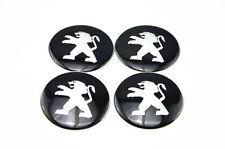 Set of 4 Sticker Peugeot 3D Style Wheel Center Hub Caps Badge Emblem 56mm GB