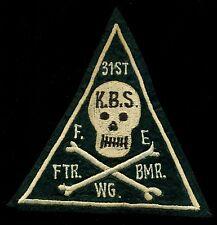 USAF 31st Fighter Bomber Wing KBS F.E Felt  Patch S-20