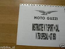 M0200 MOTO GUZZI---INSTRUCTIE BOEK V750 SPECIAL + GT850 +---CALIFORNIA + V7 SPOR