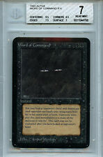 MTG Alpha Word of Command BGS 7.0 (7) NM Card Magic Amricons 4768