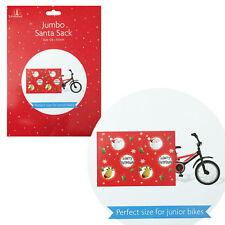 Tallon Jumbo Plastique Vélo Noël Sac & Étiquette-cadeau 128cm x 100cm
