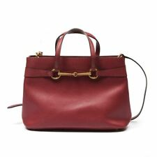 GUCCI Handbag Raspberry Leather Horsebit Convertible Tote Bag