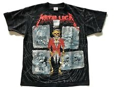 Metallica T Shirt XL All Over Crash Course Pushead Vintage 90s Brain 1992 ONEITA