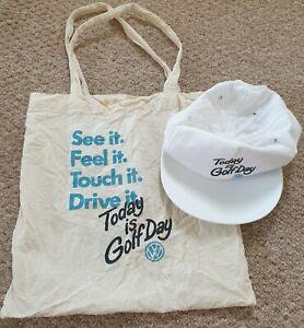 Vintage VW Golf Baseball Hat & Bag