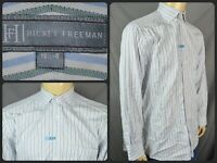 Hickey Freeman Multicolor Striped Dress Shirt Mens 16.5 x 34 Cotton Office Wear