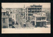 Egypt PORT SAID Rue Principale du village arabe Port Said unused c1902 u/b PPC