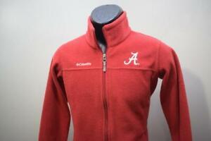 Columbia Fleece Full Zip Sweater Alabama Crimson Tide Boys Size Large