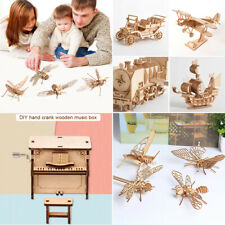 DIY Model Kits 3D Wooden Puzzle Assembled Crafts Toy For Children Educational