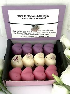 Will You Be My Bridesmaid Box Wedding Proposal Gift Bridesmaid Bracelet Favour