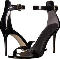 GUESS Women's Kahlua Ankle Strap Sandals Size 8 Black Patent