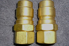 Couplings Hansen Quick-Connecting Self-Sealing ½ Npt on Plug Pair(2) S8000