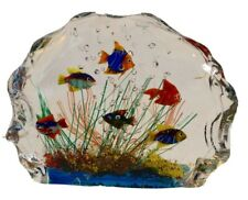 Murano Glass Fish Aquarium Glass Sculpture Barbini Cenedese Style