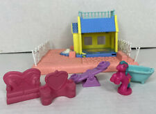 VINTAGE My Little Pony Petite Ponies Happy Hearts Cottage Accessories + Puddles
