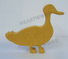 SMALL STANDING DUCK SHAPE IN MDF (100mm x 18mm thick)/WOODEN CRAFT/DECORATION