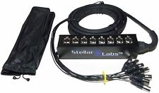 NEW 8 Channel XLR Sound Snake Box 32' Cable, Stage, Drums, Mic, Back line studio