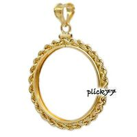 1oz Walking Lady Liberty Coin Bezel Gold Filled Rope Frame Pendant