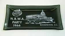 1966 Falstaff Beer (Nbwa) National Beer Wholesalers Association Glass Ashtray