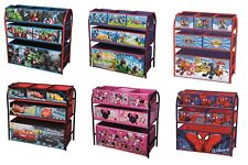 Kids Toy Storage Organiser Unit Metal Frame Multi Bin Playroom Bedroom Box