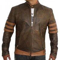 X-Men Wolverine Origins Logan Biker/bomber Real Genuine Leather Jacket All Sizes