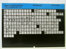 Yamaha RT100 1990 1992 1993 RT100A RT100D RT100E Service Manual  Microfiche y178
