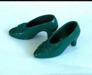 Green Bow doll Shoes fit Franklin Mint Scarlett Ohara 15-16in Jackie Josephine