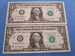 2 x USA    STAR Dollar Notes. 1 x UNC   1 x Circulated  2013