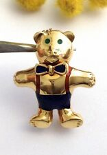 "SPILLA "" ORSO "" IN ORO GIALLO 18KT CON SMALTI - 18KT SOLID  GOLD BEAR BROOCH"