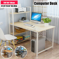 120X60X118cm Computertisch Schreibtisch Bürotisch mit Bücherregal Arbeitstisch.