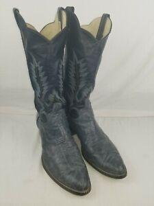 Larry Mahan 11.5 D Navy Blue Cowboy Boots
