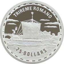 2007 Legendary Fighting Ships Trireme Romano $25 Dollar Silver Proof 1oz Coin