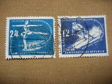 .Germany Stamps 1950 GDR Winter Sport Sc 51-52