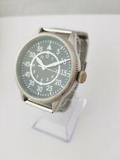 black dial manual winding big wrist watch