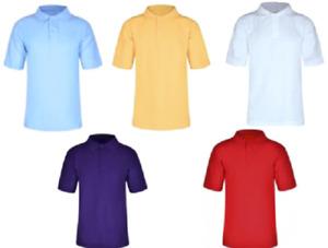 Kids Polo Shirt Children Top Boys Girls Plain School Uniform T-Shirt New