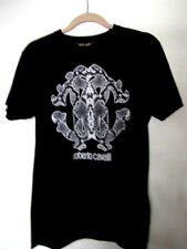 Roberto Cavalli Men's Black Graphic Print T-Shirt 100% cotton Size Large For HIM