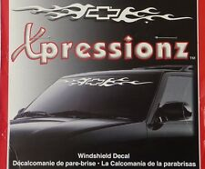 Xpressionz Chevrolet Bowtie Windshield Banner Decal Sticker~Chevy Logo Flames