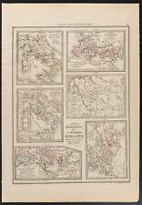 1840 - Schede antiche Storia romana (Dufour & Picquet)