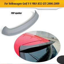 Unpainted Rear Roof Spoiler Lip Wing Fit for VW Golf 5 V MK5 R32 GTI 2006-2009