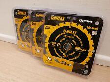 3 X DEWALT EXTREME DT10304 190MM X 30MM BORE 24T TCT CIRCULAR SAW BLADES