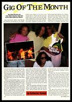"1990 Eddie Van Halen Cabo Wabo Cantina Photo ""Gig Of The Month"" Article Print Ad"