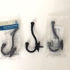 Coat and Hat Single Hook Wall Mount Oil Rubbed Bronze 3 pack New