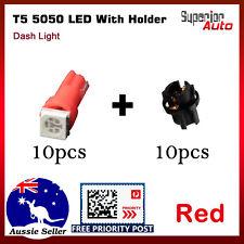 10x T5 70 37 5050 LED Red Car Wedge Dashboard Gauge Light Globe With Bulb Holder