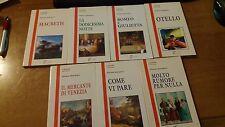 shakespeare stock di 7  libri nuovi 18 euro - La Spiga i david - ediz.integrali
