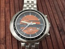 Automatic watch NOS style - unworn - monocoque case - orange dial b
