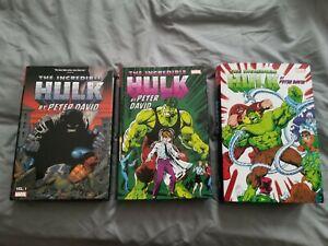 Peter David Hulk Omnibus 3 Vol set!