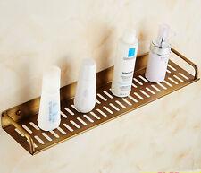 Antique Brass Bathroom Rectangle Sundries Holder Soap Shampoo Basket Shelf