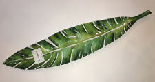 """Tommy Bahama PALM LEAVES BIRD OF PARADISE """"PALM FROND TREE LEAF"""" DISH. 25"""" long"""