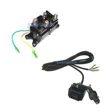 WATERPROOF Rocker Switch + 12V ATV UTV Solenoid Relay Winch Contractor