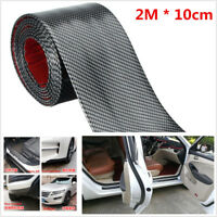1Pc 2M Carbon Fiber Style Car Scuff Plate Door Sill Cover Panel Step Protector